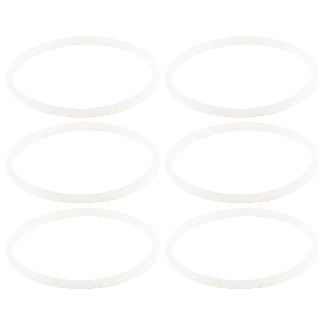 6 Pack Felji White Gaskets Rubber Sealing O-Ring Replacement Part for Nutri Ninja Blenders BL660 BL663 BL663CO BL665Q BL740 BL770 BL771 BL773CO BL810C BL810Q BL820 BL830