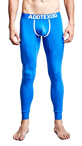 Funycell Men's Thermal Pants Long Johns Underwear Leggings Blue US S