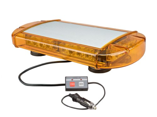Wolo (3770M-A) Outer Limits Gen 3 LED Low Profile Emergency Warning Mini Light Bar - Amber Lens