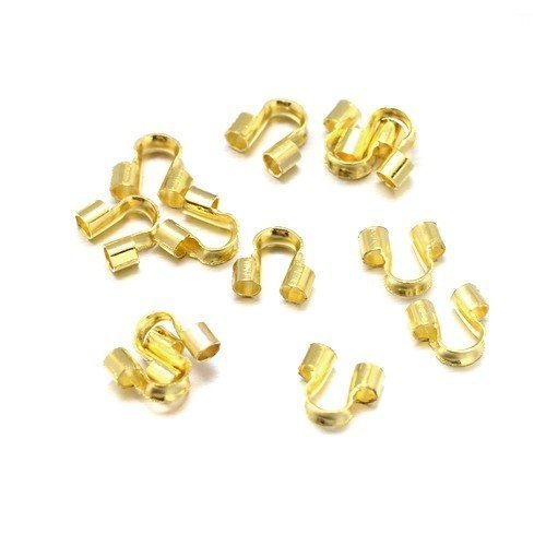HA12090 Antique Gold Plated Brass 5 x 6mm Wire Guardians Packet of 150 Charming Beads