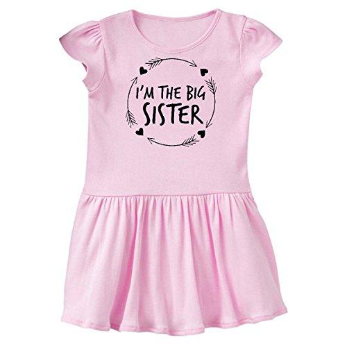 inktastic - I'm The Sister Toddler Dress 5/6 Ballerina Pink 2c442 (Dress Heart Ballerina)