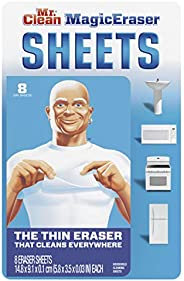 Mr. Clean Magic Eraser Cleaning Sheets, The Power of A Magic Eraser in A Thin, Flexible, Disposable Sheet, 8 C