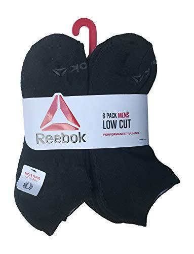 - Reebok 6 Pack Mens Low Cut Performance Training Socks, Black 2018