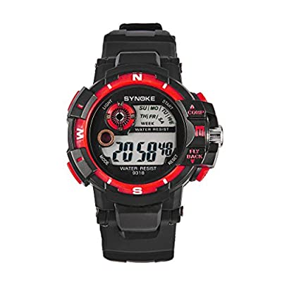 Auspicious beginning Men's Outdoor Sport Waterproof Digital Electronic Watch