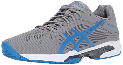 ASICS Men's Gel-Solution Speed 3 Tennis Shoe, Aluminum/Electric Blue/White, 8 Medium US