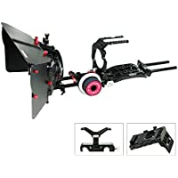 CAMTREE HUNT Camera Cage Shoulder mount Support Kit for Sony PXW-FS7 (CH-FS7-CKIT) Stabilizer Rig with Matte Box & Follow Focus + Free Accessories