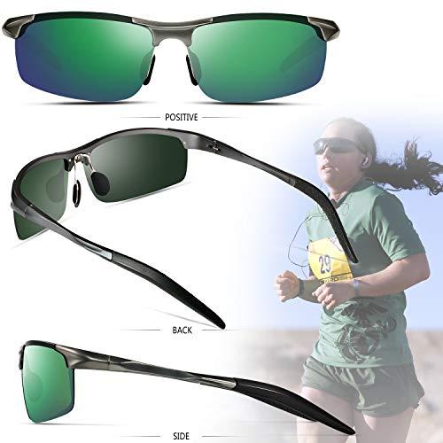 cd41fa175aeb Sports Polarized Sunglasses for Men - Feirdio Mens Sports Glasses Metal  Frame Driving sunglasses 2266