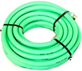 """Water Hose Continental (Formerly Goodyear) ¾"""" x 75' GREEN Pliovic Industrial 250psi with Brass Fittings - Heavy Duty - USA"""