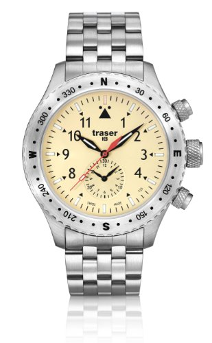 Traser Aviator Jungmeister Chronograph Watch w/ Sapphire Crystal T5302.258.4P.18