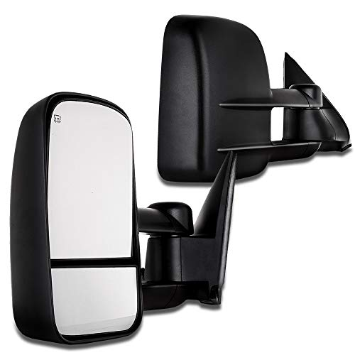 (SCITOO Fit 1988-1998 Chevrolet Gmc C K 1500 2500 3500 Truck Black Towing Power Side Mirrors Pair Set)
