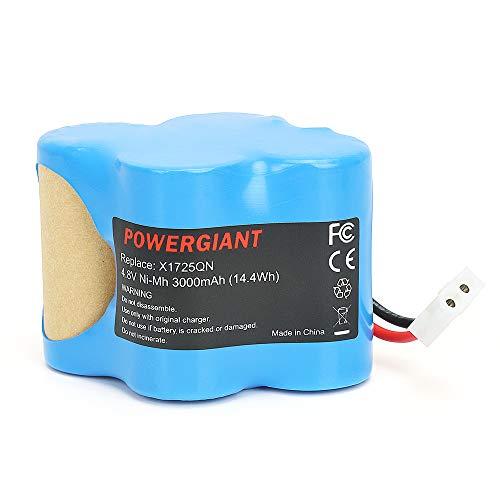 - PowerGiant 4.8V 3.0Ah NiMh Replacement Battery for Shark Euro-Pro X1725QN X8905 V1930 VX1 V1700Z Cordless Sweeper