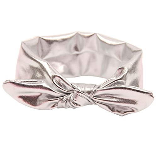 Binmer(TM)Baby Rabbit Design Girls Headband Children Hairband Kids Head Wraps (Silver)
