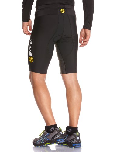 Skinstri400 Men's Compression Shorts (Black/White)