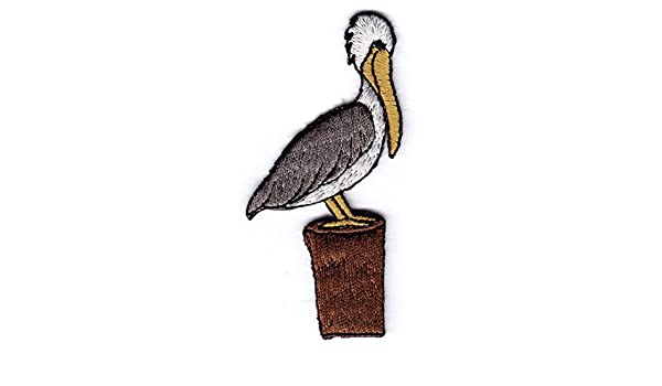 Pelican Iron On Patch Birds Ocean Beach