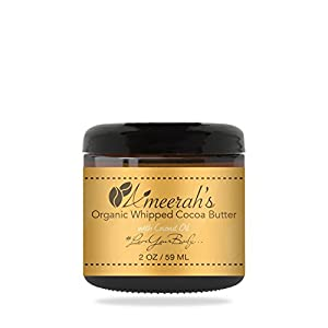 Organic Whipped Cocoa Body Butter & Coconut Oil | Body Moisturizer Cream - Unscented - 2 ozs