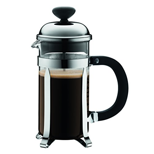 3 Cup Chrome Coffee Press - Bodum Chambord 3 Cup French Press Coffee Maker, Chrome, 0.35 l, 12 oz