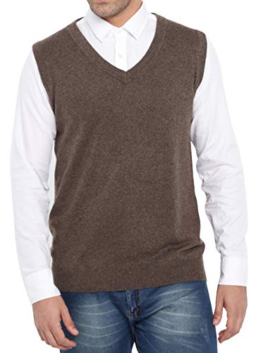0d81e8ecaaf7 Jual Liny Xin Men s Casual Fit Cashmere Wool Winter Vest Knitted V ...