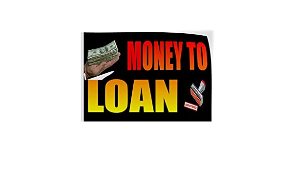 Decal Sticker Multiple Sizes Cash Loans Business Cash Loan Outdoor Store Sign Black Set of 2 54inx36in