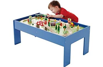 Chad Valley Wooden Table and 90 Piece Train Set.  sc 1 st  Amazon UK & Chad Valley Wooden Table and 90 Piece Train Set.: Amazon.co.uk: Toys ...