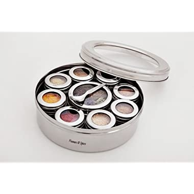 The Three Sisters Stainless Steel Masala Dabba Spice Box