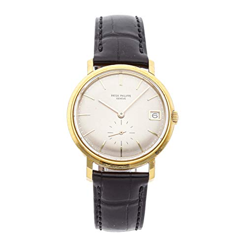 Patek Philippe Calatrava Mechanical (Automatic) Silver Dial Mens Watch 3445 (Certified - Philippe Watch Patek Calatrava Mechanical
