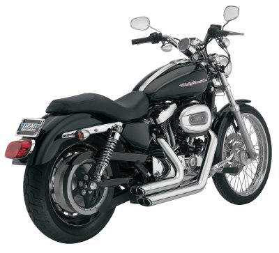 Sportster And Vance Hines - Vance & Hines Shortshots Staggered - Chrome 17219