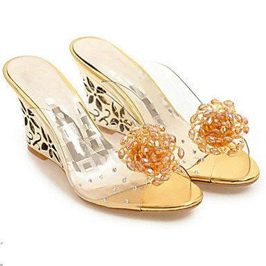 Shoes Comfort Cn35 Applique Women'S Uk3 Sandals Us5 RTRY 5 Heel Gold 5 Rubber Dress Club Gold Eu36 Casual Silver Summer Wedge IAxRq