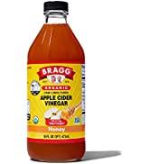 Bragg Organic Apple Cider Vinegar Blends with Honey 16 Oz – USDA Certified Organic – Raw, Unfilte...