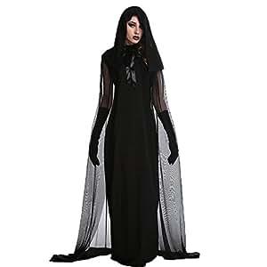 Hallowmax Disfraz para Hombres y Mujeres de Brujos, Demonios, Vampiros y Muertes