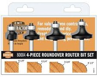 - CMT 80004 4Piece Roundover Router Bit Set 1/4