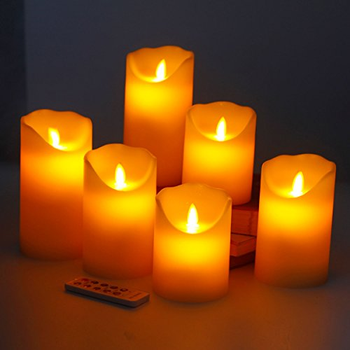 """AUTHENTIC Flameless Candles 4"""" 5"""" 6"""" Set of 6 Realistic ..."""