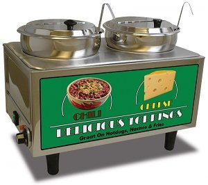 Benchmark Chili Cheese Warmer 2 Ladles/Lids for sale  Delivered anywhere in USA