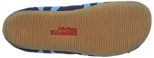 Living Kitzbühel T-Modell Fledermaus mit Streifen - pantuflas de lona niño azul - Blau (561 marine türkis)