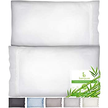 Bamboo Pillowcase Queen Bamboo Pillow Case Queen Size (20x30) - 100% Organic Bamboo Large Pillow Cases Cooling Pillowcase Cooling Pillow Cases Queen Cool Pillow Cases Set of 2 Pillowcases White