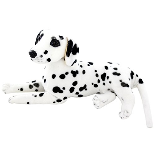 JESONN Realistic Stuffed Animals Dog Plush Toys Dalmatian,12