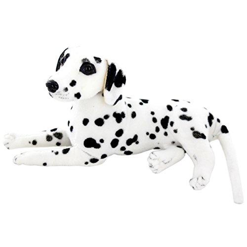 Jesonn Realistic Stuffed Animals Dog Plush Toys Dalmatian,12