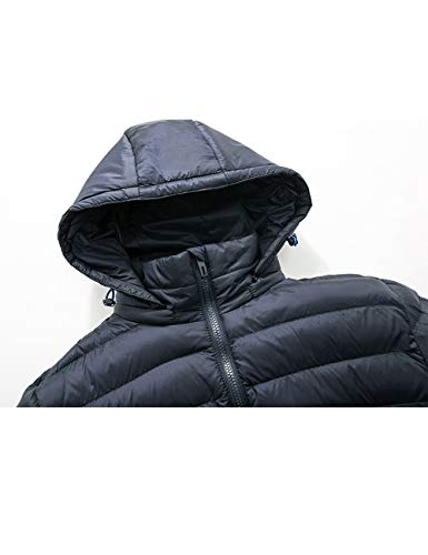 Youth Hood Hooded Thicken Warm Cardigan Windbreaker Breathable with Outerwear Jacket Down Jacket Casual Cotton Zhuhaijq Cotton Fashion Blue Coat Winter Men's 6SOXqpSf