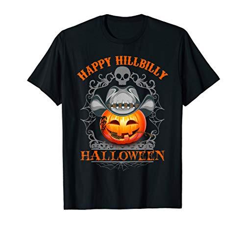 Redneck Pumpkin Halloween Hillbilly Lover Cute Gift T-Shirt -