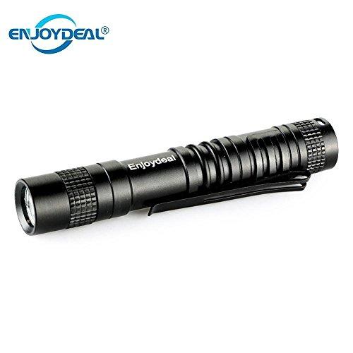 (Cacys Store - XPE-R3 LED 1000 Lumens LED Mini Penlight Flashlight Belt Clip Pocket Torch Portable Flash Torch Lamps Use 1xAAA)