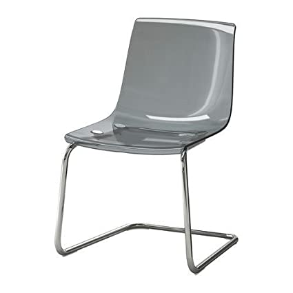 Ikea TOBIAS Chair, Gray, Chrome Plated 2024.261711.102
