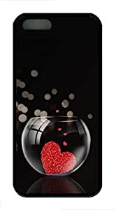 Love In The Fish Tank - iPhone 5S Case Funny Lovely Best Cool Customize Black Cover by lolosakes