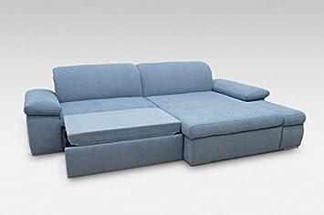 Corner Sofa Bed NEBRASKA R Pastel Blue