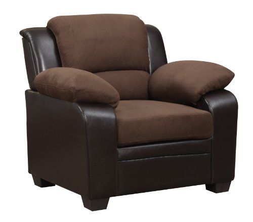 (Global Furniture Upholstered Chair, Brown)