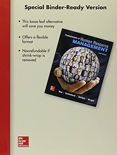 loose leaf for fundamentals of human resource managementloose leaf for fundamentals of human resource management 6th edition