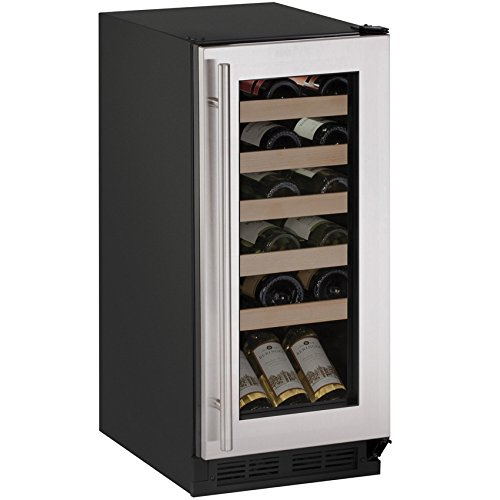 U-Line U1215WCS00B 15'' Built-in/Freestanding Wine Storage, Stainless Steel by U-Line