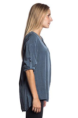 Abbino 1615 Vestido Corto con Deep V-Neck para Mujeres - Hecho en ITALIA - 5 Colores - Entretiempo Primavera Verano Otoño Elegantes Fiesta Fashion Joven Rebajas Encanto Fashion Tendencia Azul