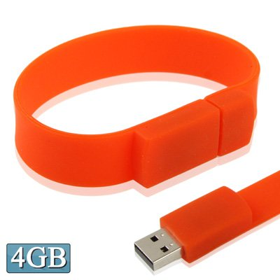 CAOMING 4GB Silicon Bracelets USB 2.0 Flash Disk by CAOMING