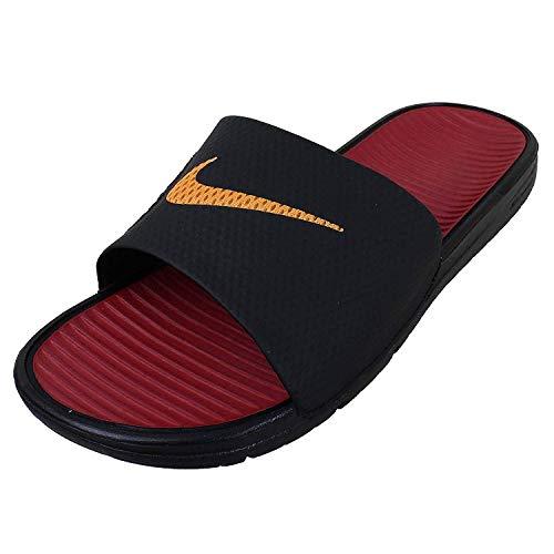 76627dd0c1dc67 NIKE Benassi Solarsoft Soccer Black Gold Red (576427-076) - Buy ...