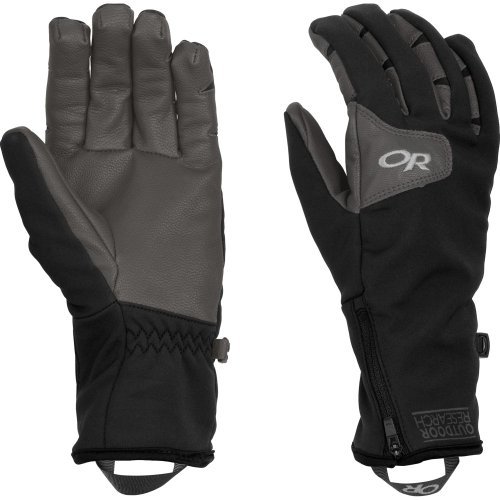 Outdoor Research Women's Stormtracker Gloves (Black/Charcoal, Medium)