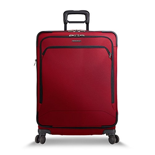 Briggs & Riley Medium Expandable Spinner, Crimson, One (Riley Transcend Collection)